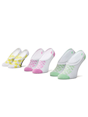 Vans Vans Σετ 3 ζευγάρια κάλτσες σοσόνια γυναικεία Rainy Day Check Canoodles VN0A4DSR4481 r.37-41 Λευκό