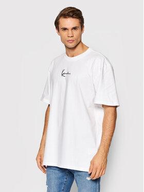Karl Kani Karl Kani T-Shirt Small Signature 6060585 Bílá Regular Fit