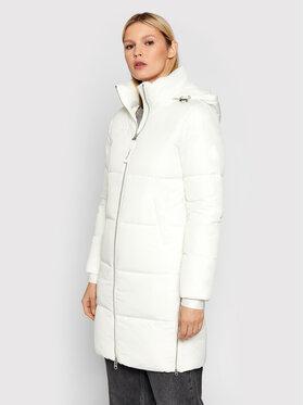 Calvin Klein Calvin Klein Žieminis paltas Elastic Logo Sorona K20K203050 Balta Regular Fit