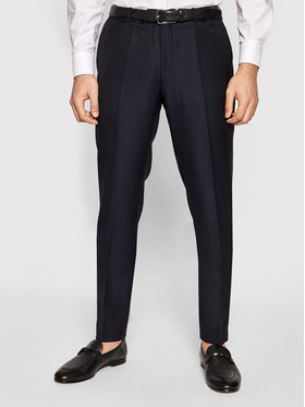 Oscar Jacobson Oscar Jacobson Pantaloni de costum Denz 51705027 Bleumarin Slim Fit