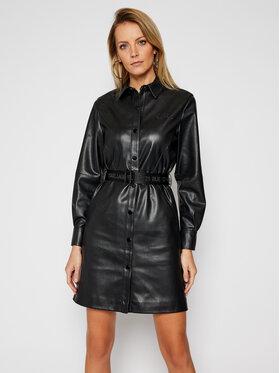 KARL LAGERFELD KARL LAGERFELD Kožené šaty 210W1309 Čierna Regular Fit