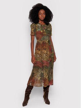 Desigual Desigual Sukienka codzienna Salomon 21WWVW66 Brązowy Slim Fit
