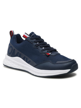 Tommy Hilfiger Tommy Hilfiger Sneakersy Low Cute Lace-Up Sneaker T3B4-31100-1171 S Granatowy