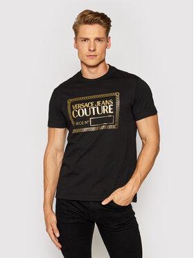 Versace Jeans Couture Versace Jeans Couture Marškinėliai 71GAHT27 Juoda Regular Fit