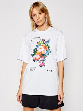 MSGM MSGM T-Shirt 3041MDM161 217298 Weiß Regular Fit