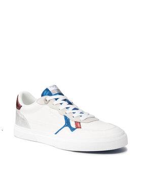 Pepe Jeans Pepe Jeans Sneakers aus Stoff Kenton Wave PLS31236 Weiß