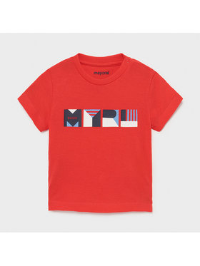 Mayoral Mayoral T-Shirt 106 Rot Regular Fit