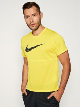 NIKE NIKE T-shirt technique Breathe Run CJ5386 Jaune Standard Fit
