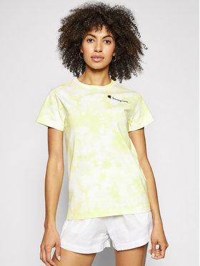 Champion Champion T-Shirt Tie Dye Digital Print 113939 Žlutá Custom Fit