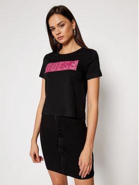 Guess Guess T-Shirt Adria Tee W1RI05 JA900 Μαύρο Regular Fit