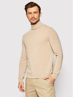 United Colors Of Benetton United Colors Of Benetton Golf 1002U2180 Beżowy Regular Fit