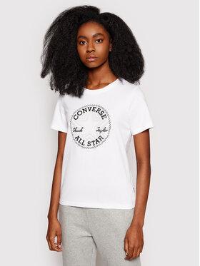 Converse Converse T-Shirt Multi-Star Chuck Taylor Patch 10021643 Biały Standard Fit