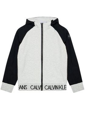 Calvin Klein Jeans Calvin Klein Jeans Bluza Punto Fabric Mix IB0IB00805 Szary Regular Fit