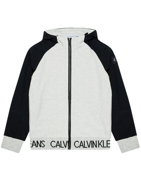 Calvin Klein Jeans Calvin Klein Jeans Džemperis Punto Fabric Mix IB0IB00805 Pilka Regular Fit