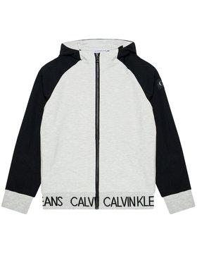 Calvin Klein Jeans Calvin Klein Jeans Mikina Punto Fabric Mix IB0IB00805 Sivá Regular Fit
