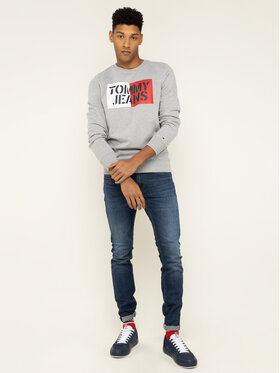 Tommy Jeans Tommy Jeans Felpa Essential Graphic DM0DM07413 Grigio Regular Fit