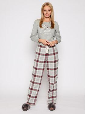 Lauren Ralph Lauren Lauren Ralph Lauren Pyžamo 2 Pc Garment ILN72020 Šedá Regular Fit