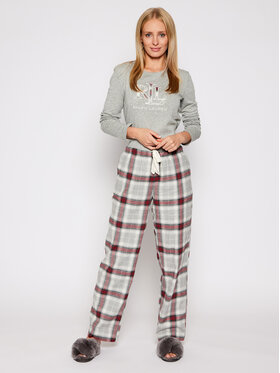 Lauren Ralph Lauren Lauren Ralph Lauren Pyžamo 2 Pc Garment ILN72020 Sivá Regular Fit