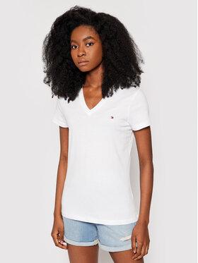 Tommy Hilfiger Tommy Hilfiger T-Shirt Heritage V-Neck Tee WW0WW24969 Biały Regular Fit