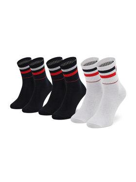 Fila Fila Sada 3 párů dámských vysokých ponožek Calza F6115 Tmavomodrá