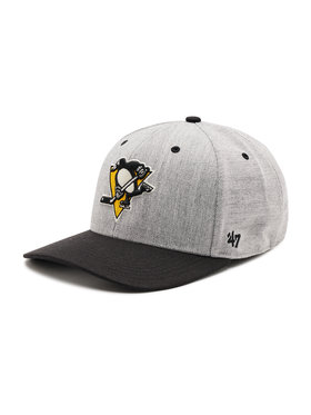 47 Brand 47 Brand Czapka z daszkiem Pittsburgh Penguins H-SCTTD15WHP-CC Szary