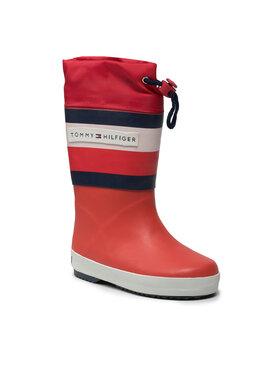 Tommy Hilfiger Tommy Hilfiger Guminiai batai Rain Boot T3X6-32105-1235 M Raudona