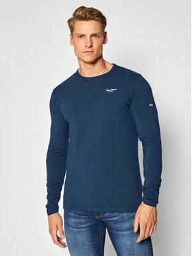 Pepe Jeans Pepe Jeans Majica dugih rukava Original Basic 2 PM506138 Tamnoplava Slim Fit