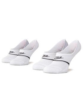 NIKE NIKE Lot de 2 paires de socquettes unisexe CU0692 100 Blanc