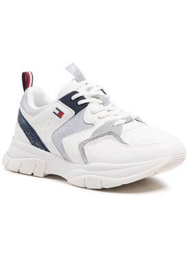 Tommy Hilfiger Tommy Hilfiger Sneakersy Low Cute Lace-Up Sneaker T3A4-31034-0991 M Biały