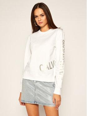 Calvin Klein Jeans Calvin Klein Jeans Mikina J20J214798 Bílá Regular Fit