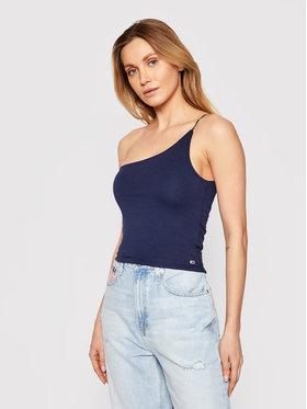Tommy Jeans Tommy Jeans Top Asymetric Strap DW0DW09777 Blu scuro Slim Fit