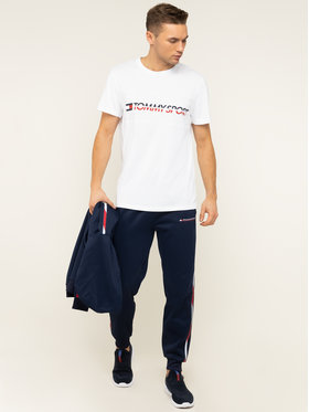 Tommy Sport Tommy Sport Тишърт Logo Driver S20S200486 Бял Regular Fit