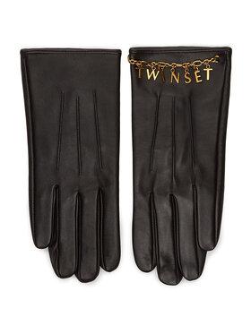 TwinSet TwinSet Dámske rukavice 202TO5063 Čierna