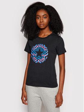Converse Converse T-Shirt Multi-Star Chuck Taylor Patch 10021643 Czarny Standard Fit