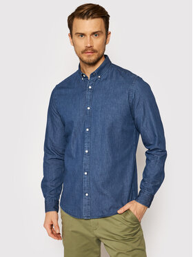 Jack&Jones Jack&Jones chemise en jean Plain Denim 12164676 Bleu marine Slim Fit