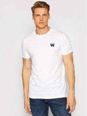 Wrangler Wrangler Тишърт Sign Off Tee W7C07D312 Бял Regular Fit