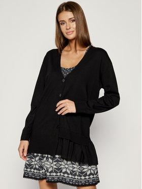 My Twin Úpletové šaty 192MT3092 Čierna Regular Fit