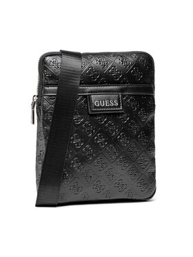 Guess Guess Мъжка чантичка Vezzola (4G Embossed) HMVEZE P1323 Черен