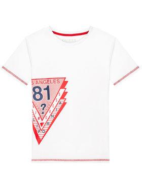 Guess Guess T-Shirt L1RI18 K8HM0 Biały Regular Fit