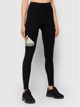 Superdry Superdry Leggings Mountain Sport W7010596A Crna Slim Fit