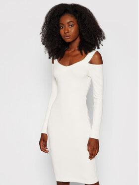 Guess Guess Úpletové šaty Annagreta W1YK0A K8RT2 Bílá Slim Fit