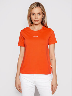 Calvin Klein Calvin Klein T-shirt Mini K20K202912 Narančasta Regular Fit