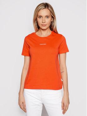 Calvin Klein Calvin Klein T-Shirt Mini K20K202912 Oranžová Regular Fit