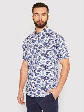Tommy Hilfiger Tailored Tommy Hilfiger Tailored Marškiniai Large Floral Print MW0MW18449 Balta Regular Fit