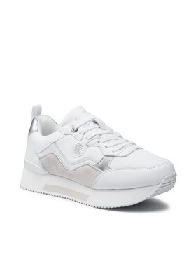 Tommy Hilfiger Tommy Hilfiger Sneakers Material Mix Active City Sneaker FW0FW05807 Blanc