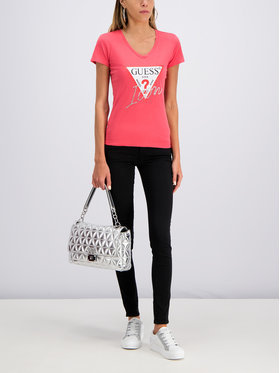 Guess Guess T-Shirt W92I59 K75R0 Červená Slim Fit