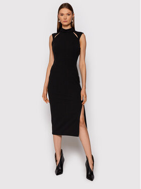 Rinascimento Rinascimento Sukienka koktajlowa CFC0018011002 Czarny Slim Fit
