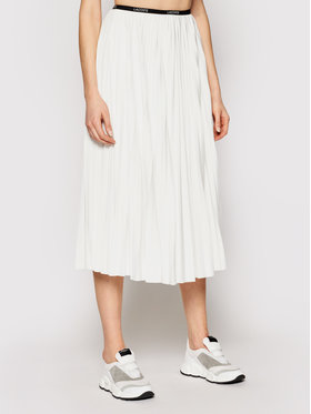 Lacoste Lacoste Jupe plissée JF5455 Blanc Regular Fit