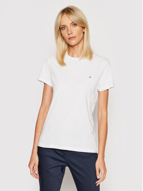 Tommy Hilfiger Tommy Hilfiger T-Shirt WW0WW22043 Bílá Regular Fit