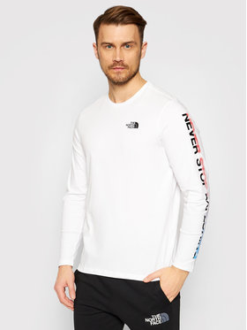 The North Face The North Face Hosszú ujjú Graphic Flow NF0A4927LA91 Fehér Regular Fit
